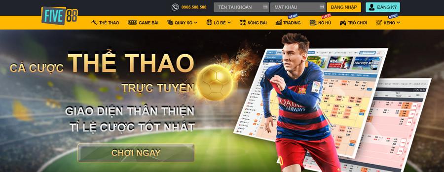 Five88 website chuyên cá độ bóng đá online