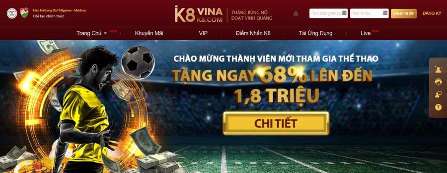 K8 web cá độ bóng đá online nhất hiện nay