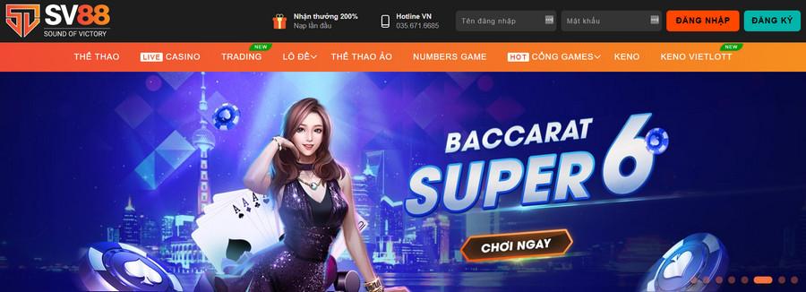 Nhà cái casino online sv88