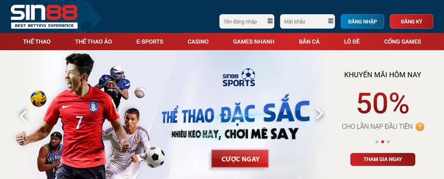 Nhà cái casino uy tín nhất Việt Nam Sin88