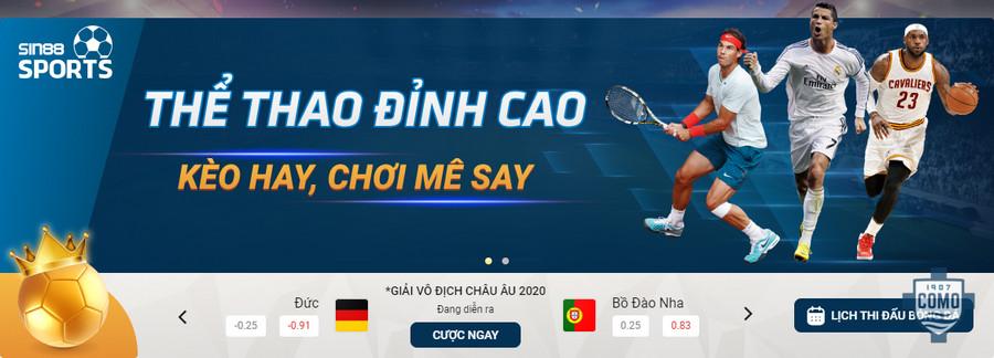 Cá cược thể thao trực tuyến tại nhà cái Sin8