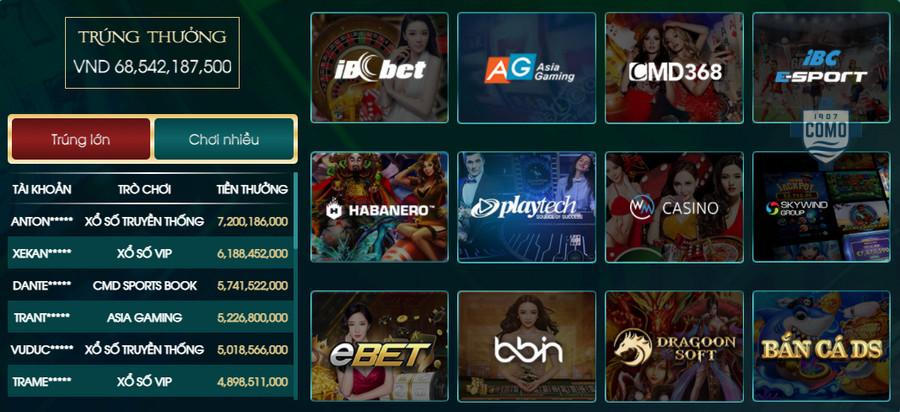 các game cá cược tại loto188 rất đa dạng
