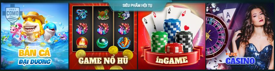 Các trò chơi cá cược tại nhà cái Lucky88