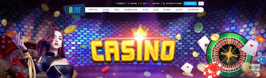 Chơi casino online tại nhà cái 8live