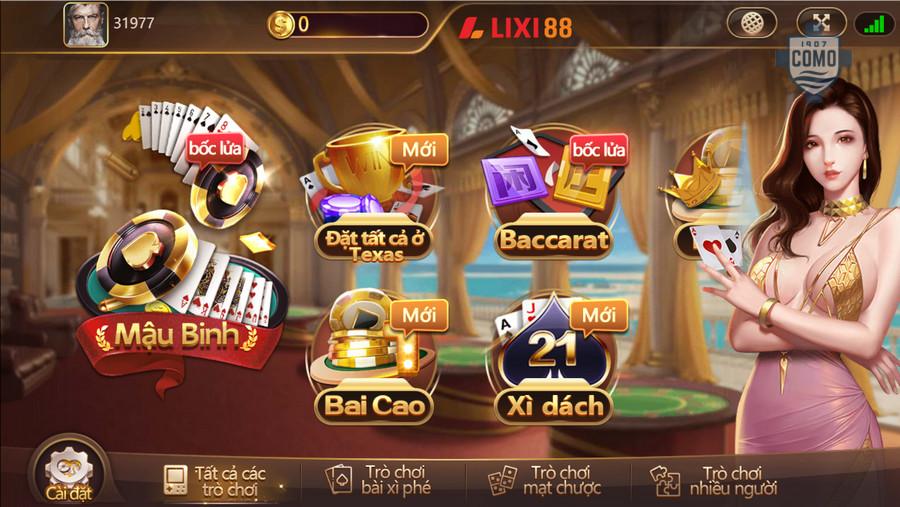 Game bài tại Lixi88