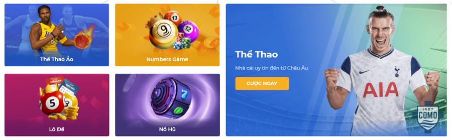 Hệ thống cá cược trò chơi đa dạng tại One88