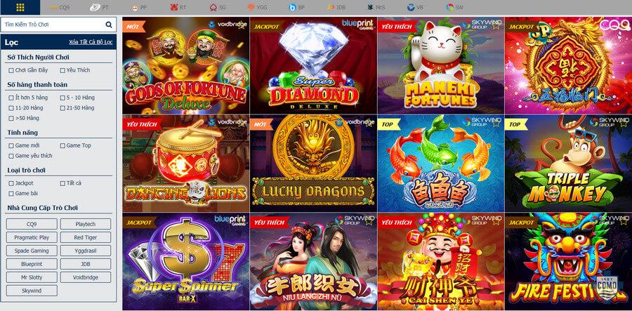 Slot game đa dạng tại nhà cái Nextbet