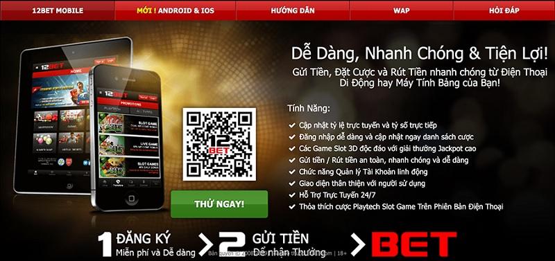 Ứng dụng 12Bet cho Android và iOS