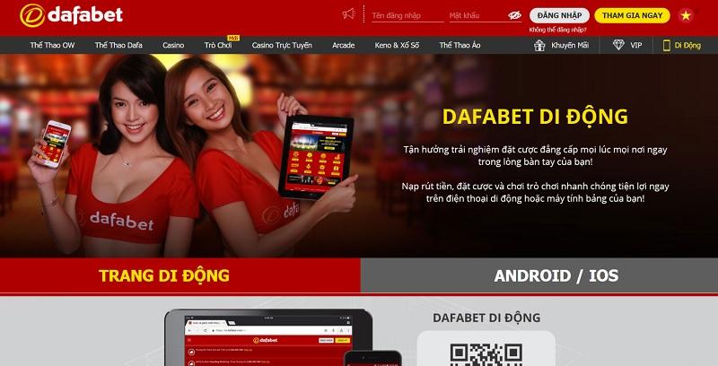 Nhà cái Dafabet phiên bản Mobile