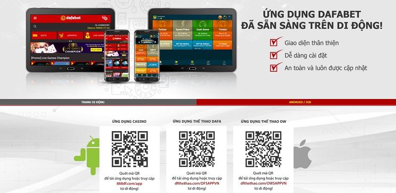 Tải app Dafabet cho Android và iOS