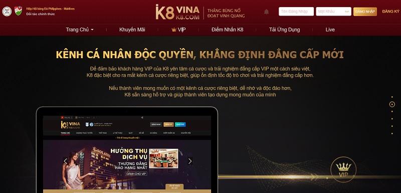 Ưu đãi K8 VIP cho thành viên VIP