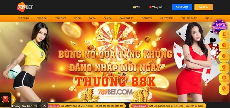 Web cá cược 789Bet