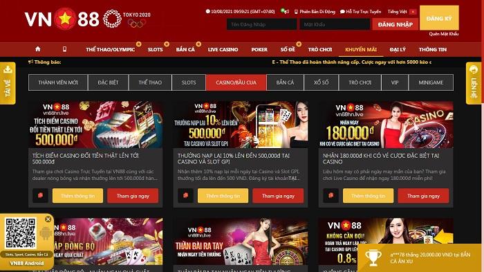 Khuyến mãi Casino/Bầu Cua